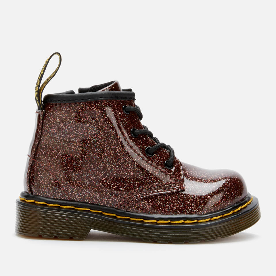 Dr Martens Toddler S 1460 Glitter Lace Up Boots Rose