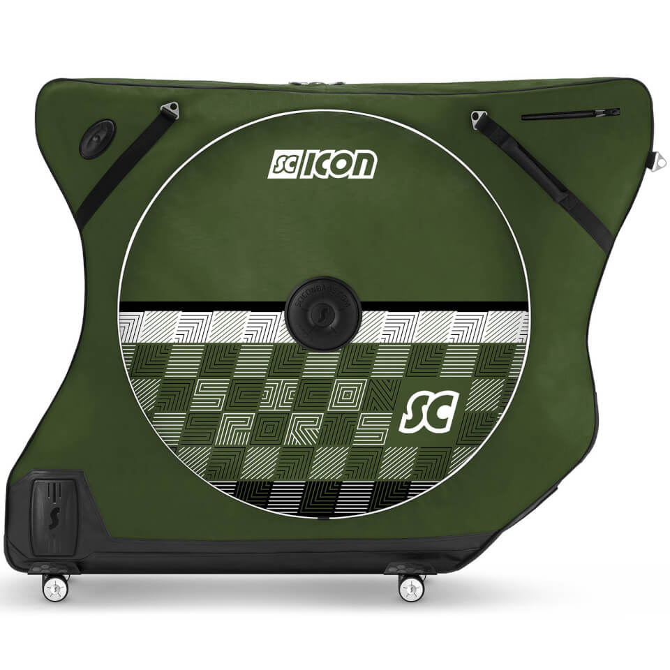 Scicon AeroComfort Road 3.0 TSA Bike Bag - Limited Edition - Checkmate - Racing Green | Bike bags