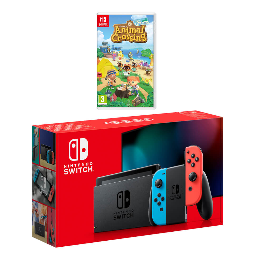 Nintendo Switch (Neon Blue/Neon Red) Animal Crossing: New ...