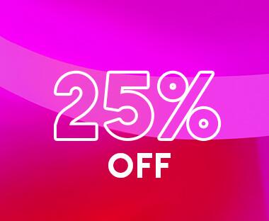 Enjoy 25% Off