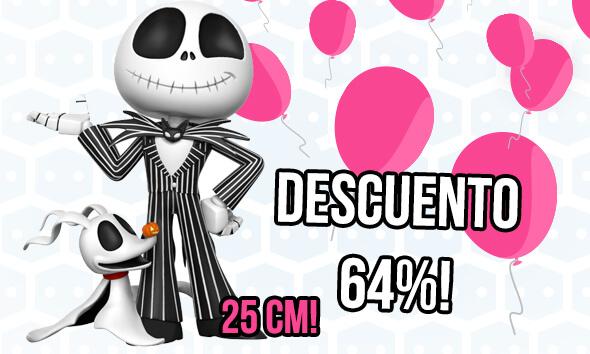 FIGURA JACK SKELETON SUPER DELUXE CON EL 64% DE DESCUENTO!