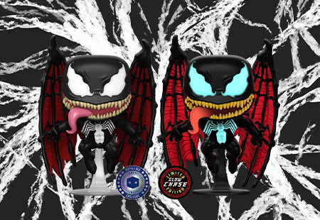 Winged Venom now joins the Pop In A Box family and you have a 1 in 6 chance for a GITD Chase!!