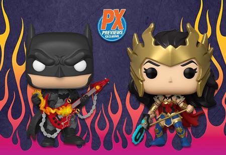 Batman e Wonder Woman Funko Pop Vinyl Figures