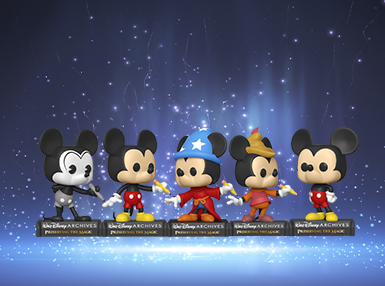 On-site and available for pre-order you can find Plane Crazy Mickey, Classic Mickey Mouse, Sorcerer Mickey, Beanstalk Mickey and Current Mickey!