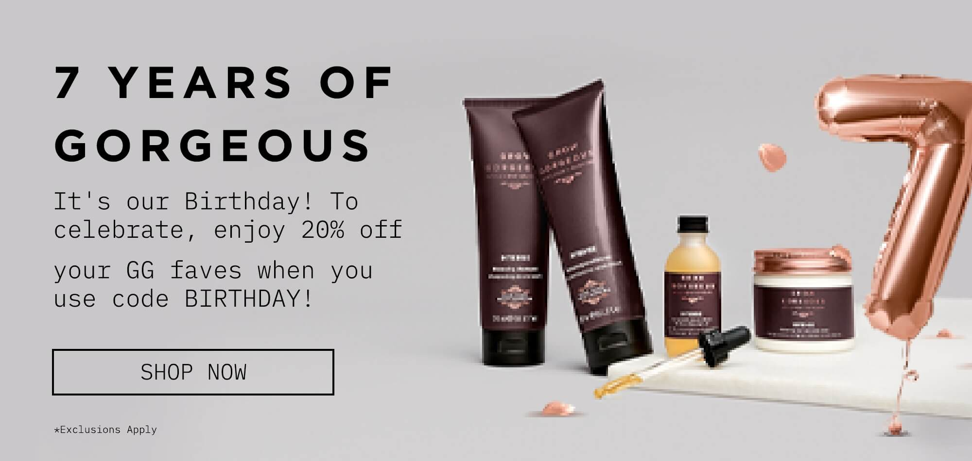 It's out birthday! Enjoy 20% off whit code BIRTHDAY! Click to view all