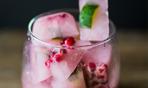 Blueberry Pomegranate Ice Cubes