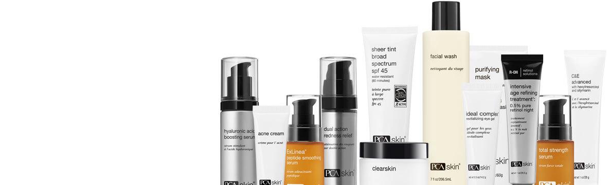 pca skin product range