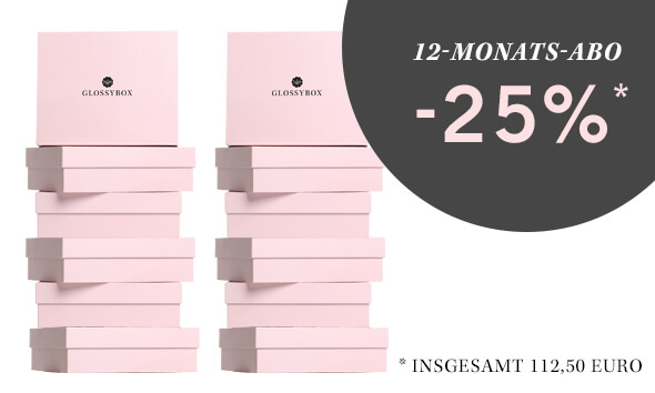 GLOSSYBOX Beauty Box 12-Monats-Abo
