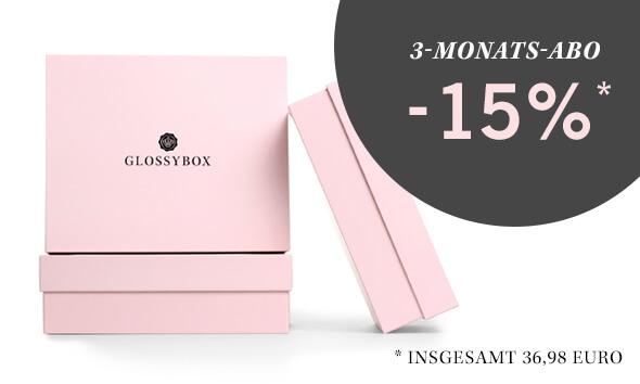 GLOSSYBOX Beauty Box 3-Monats-Abo