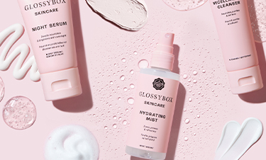 GLOSSYBOX Skincare sarjan tuotteita
