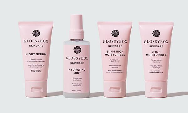 GLOSSYBOX Skincare erbjudande - 2 produkter för 350 kr!