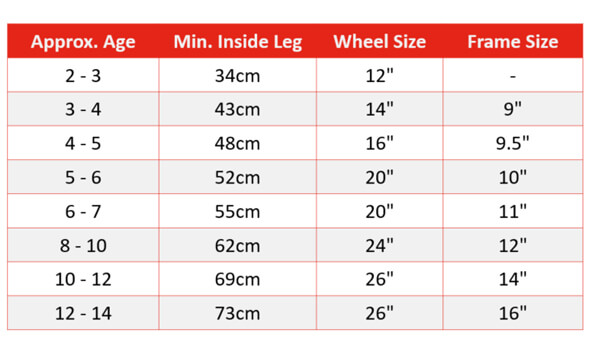 Bike Size Guide