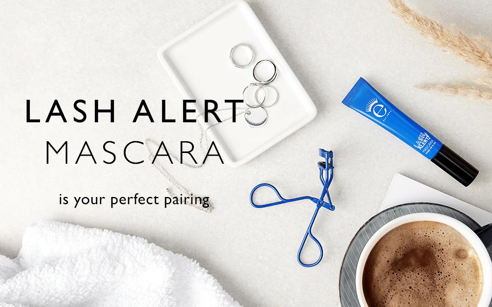 Lash Alert mascara is your pairing