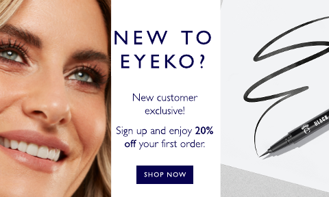 New to eyeko? Here's something special just for you - enjoy 20% off when you sign up to our exclusive emails and offers
