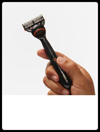 Gillette Fusion Razor in hand
