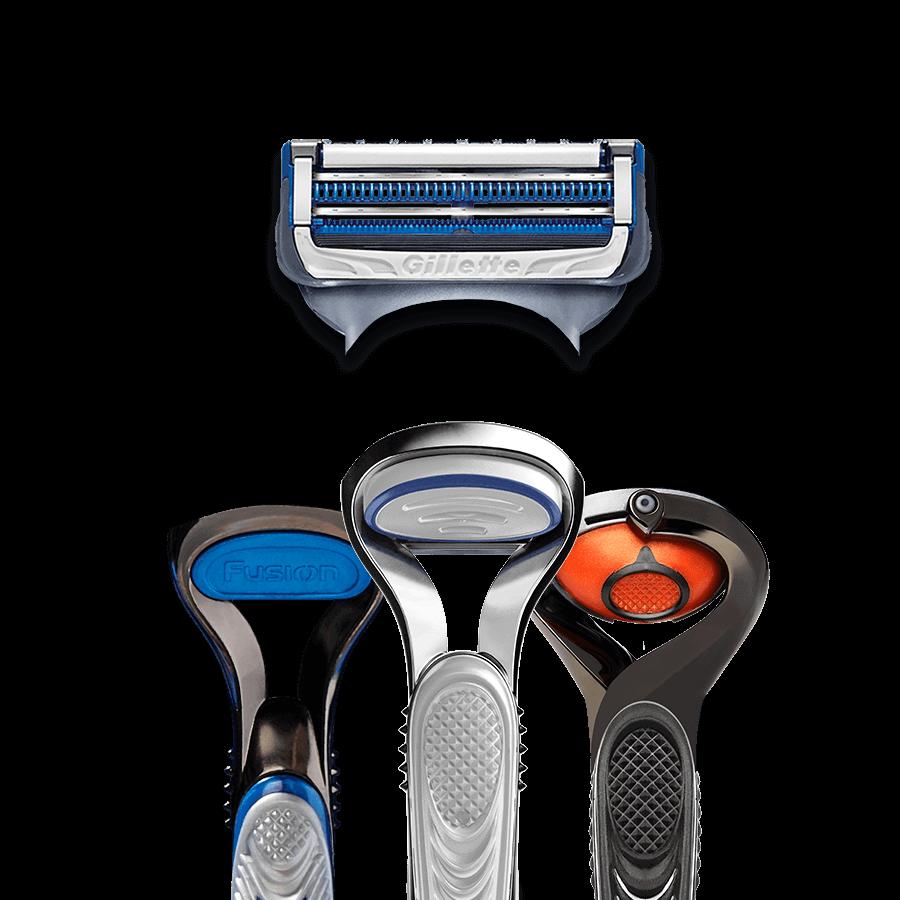 SkinGuard Sensitive Rasierklingen sind kompatibel zu allen SkinGuard und Fusion5 Griffen
