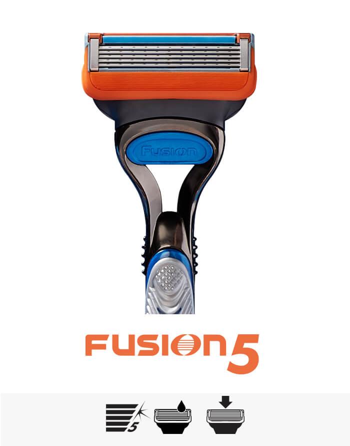 Fusion5 Rasierer haben 5 reibungsmildernde Rasierklingen | Gillette DE