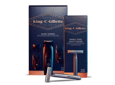 King C. Gillette Beard Trimmer & Double Edge Razor