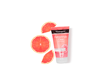 Pink Grapefruit. With a pink grapefruit fragrance, Refreshingly Clear purifies deep down for a clearer, more radiant complexion.