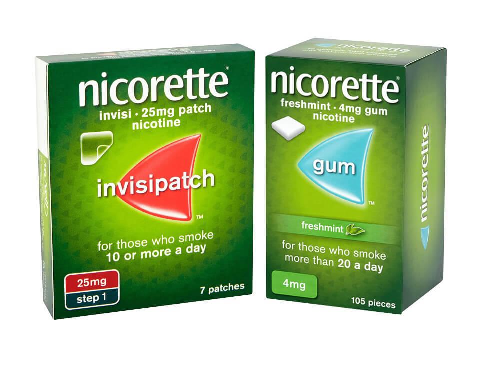 NICORETTE® InvisiPatch  + NICORETTE® Icy White Gum  £69.56 per month*
