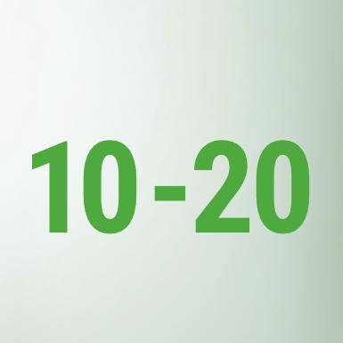 10 - 20