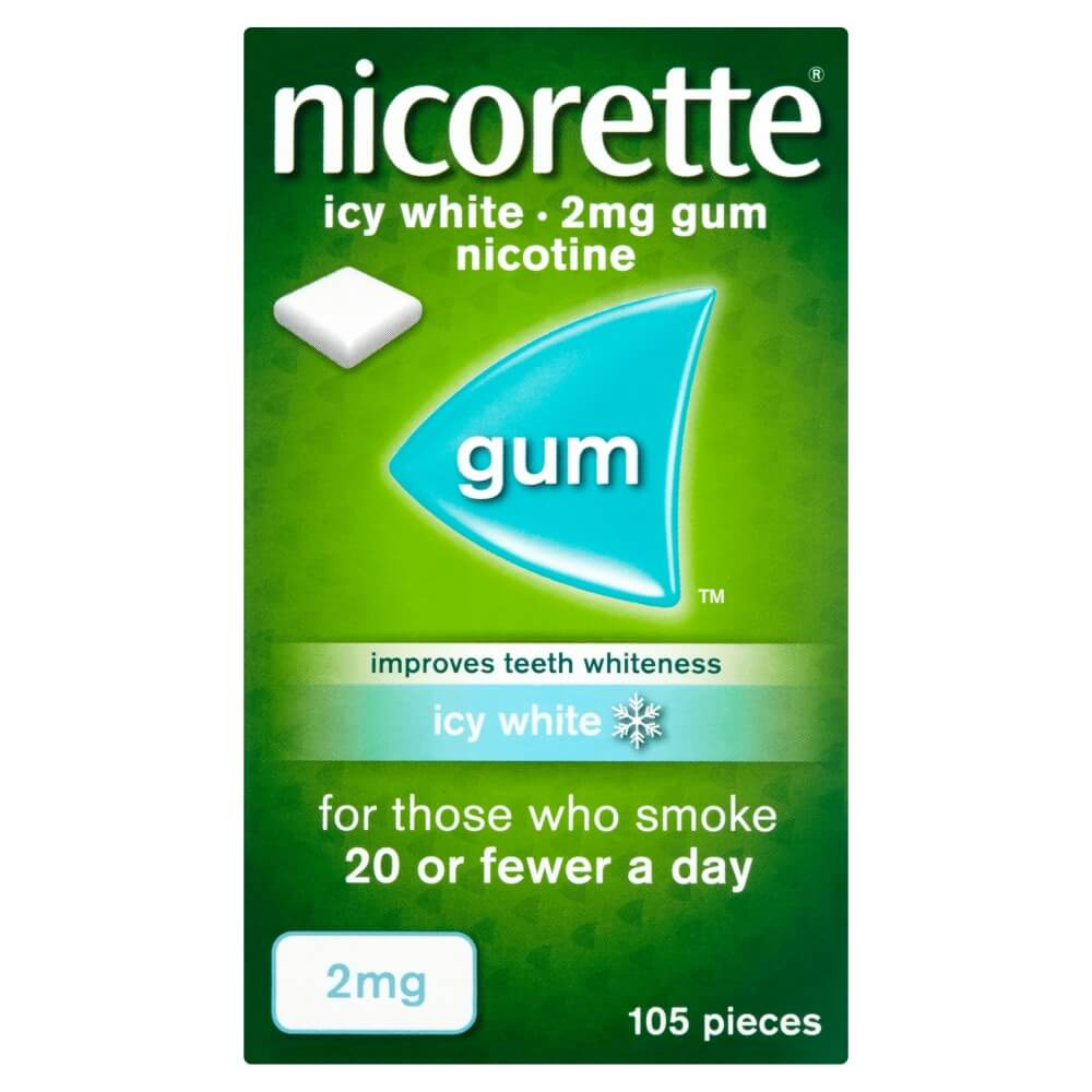 NICORETTE® 2mg Gum. Alternatively, NICORETTE®  2mg Gum may suit you as they help provide fast relief from cravings.