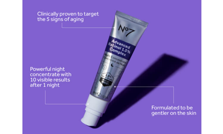 Clinically proven to target the 5 signs of aging. Powerful night concentrate with 10 visible results after 1 night. Formulated to be gentler to the skin.