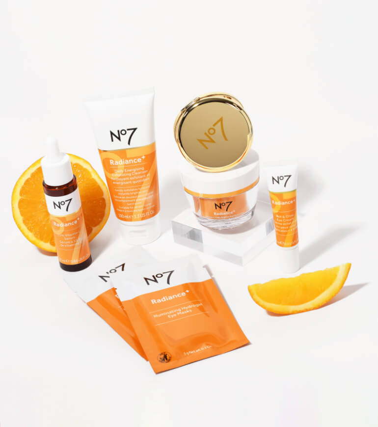 the new radiance plus collection, receive a No7 mirror with orders over $30+ of the collection. Shop now