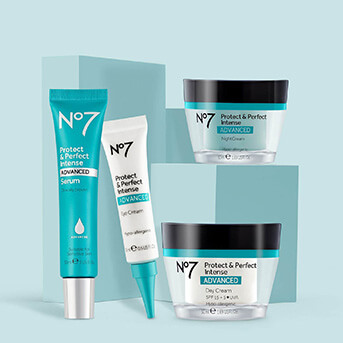 No.7 Protect & Perfect Range: Serum, Eye Cream, Night Cream and Day Cream