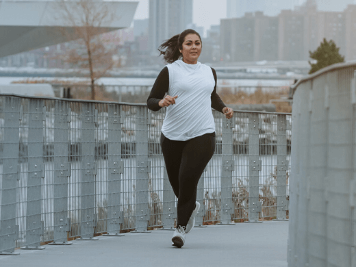 Image of a woman running