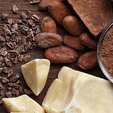 sobre manteca de cacao