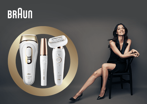 Save up to 50% on selected Braun Epilators and IPL