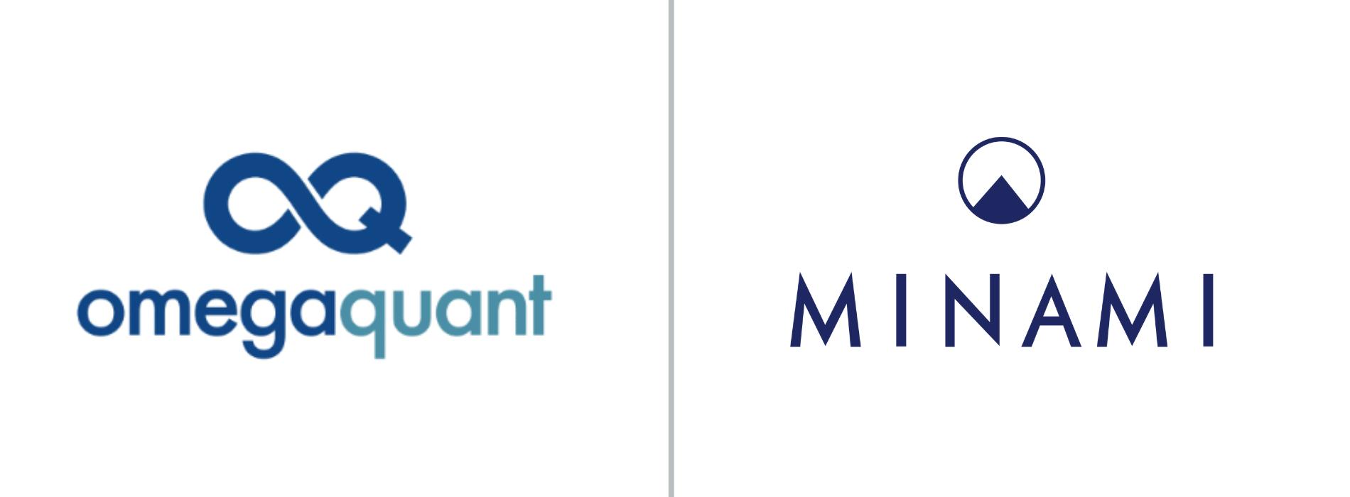 Omega Quant and Minami logo