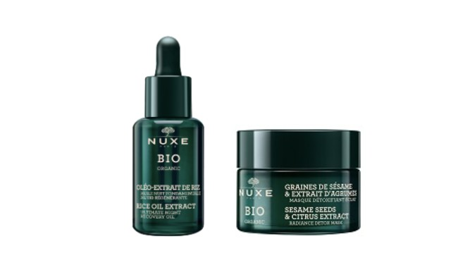 Nuxe Organic. Powerful, sensorial, committed, certified organic skincare concentrating all of nature's benefits thanks to star active ingredients obtained using environmentally-friendly technologies.