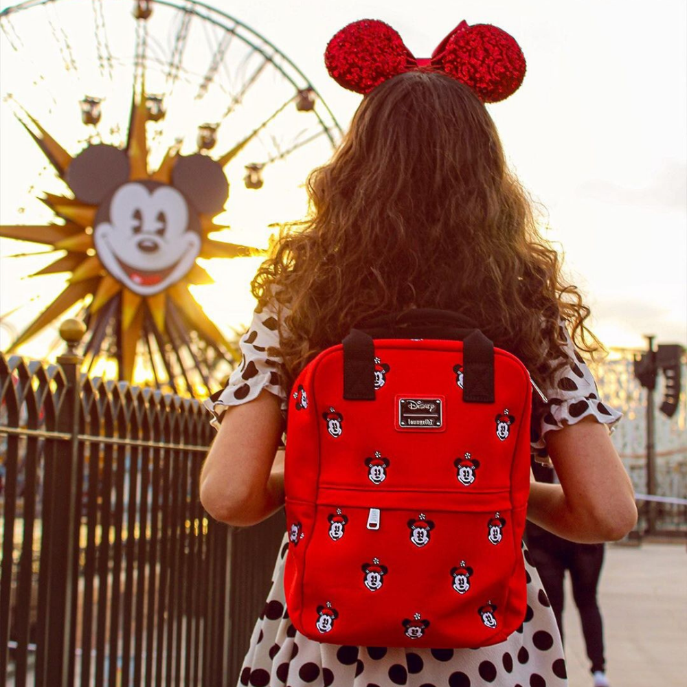 Loungefly Disney Positively Minnie Canvas Embroidered Backpack