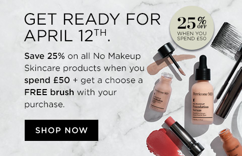 No makeup skincare 25 percent off