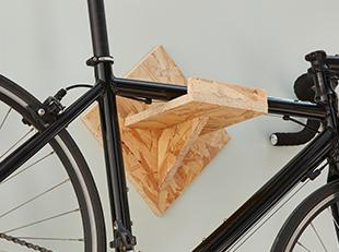 How to make a wall-mounted bike rack
