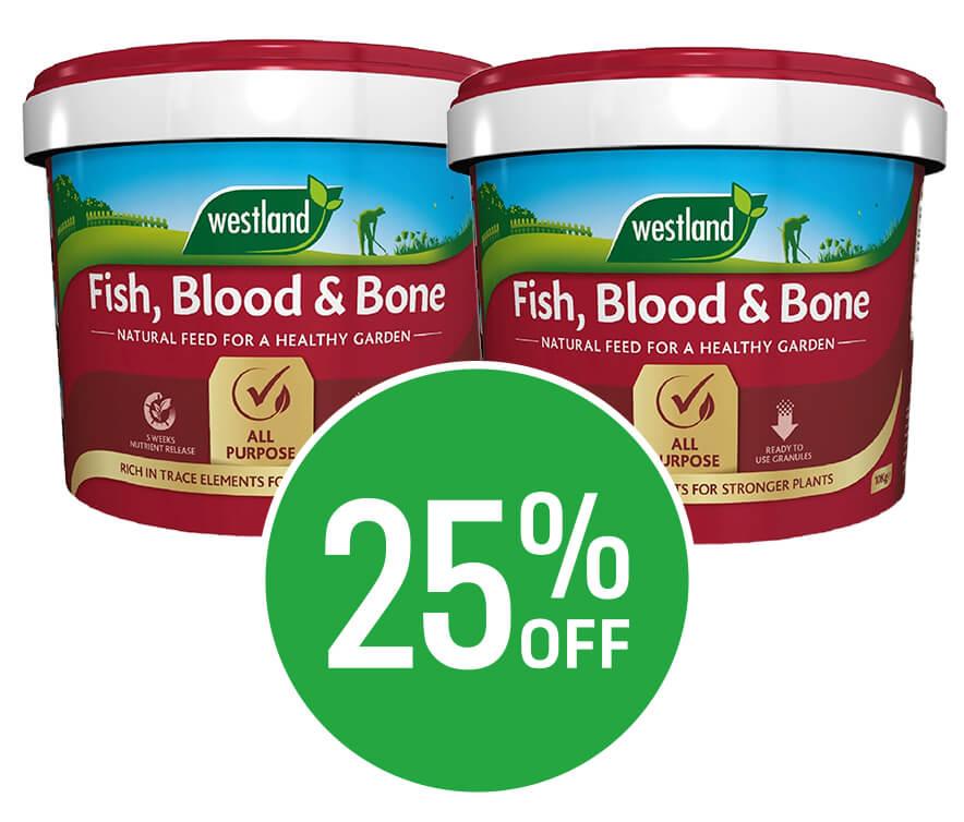 Get 25% off Westland Fish, Blood and Bone - 10kg