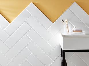 How to lay a herringbone tile pattern