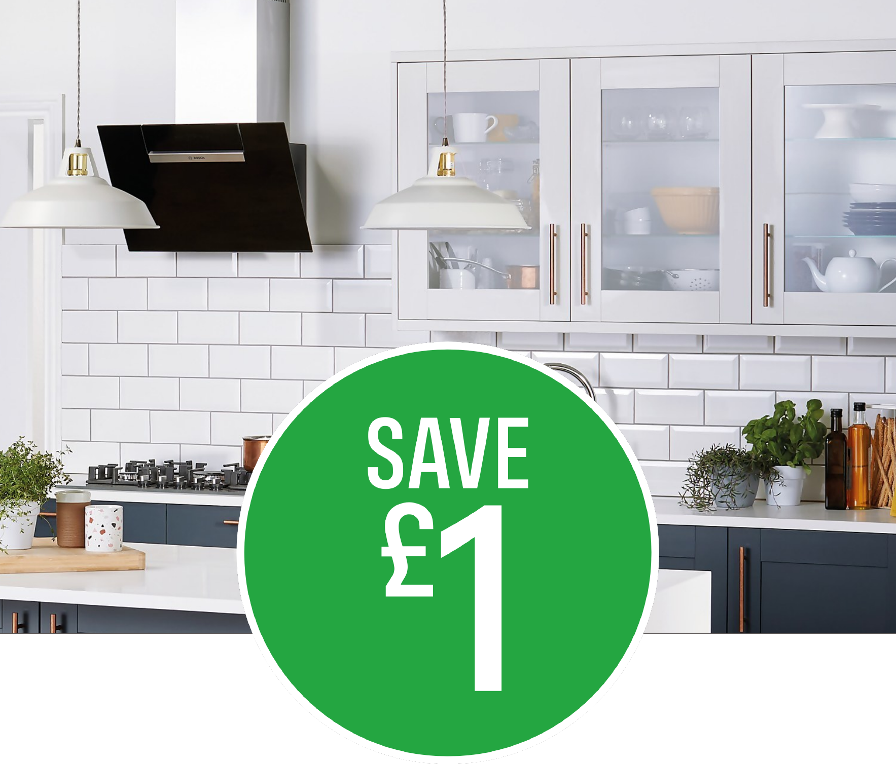 Save £1 on Metro White Wall Tile - 25 pack