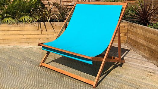 Wooden Deck Chairs and Sun Loungers