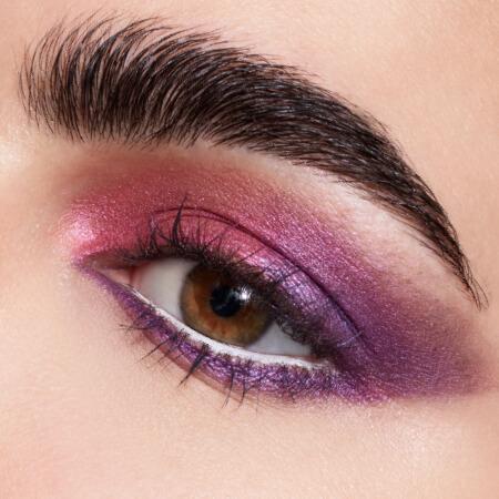 Eye with fierce purple eyeshadow