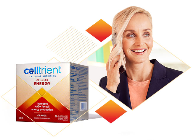 Cellular Energy & Woman smiling
