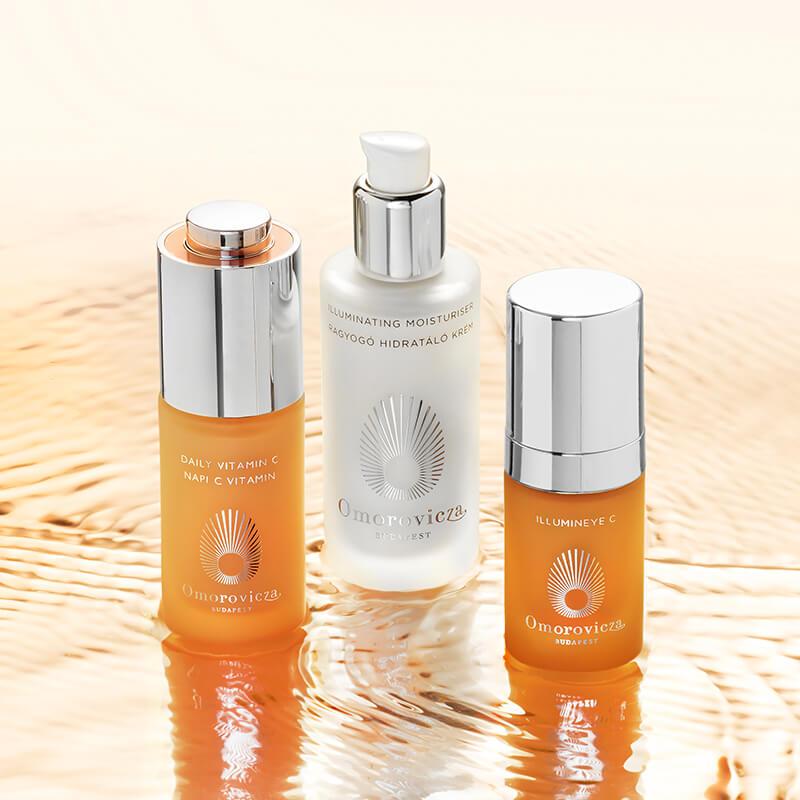 day time regime daily vitamin c, illuminating moisturiser, illumineye C