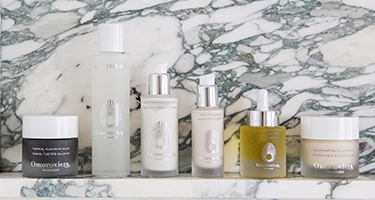 Omorovicza Thermal Cleansing Balm, acid fix, cashmere cleanser & gold eye cream