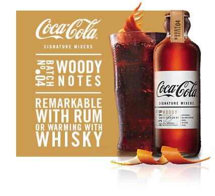 Woody Notes Coca-Cola signature mixer drink