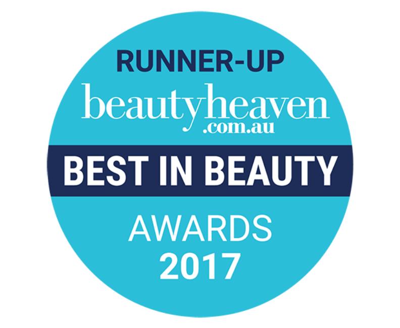 Runner up beautyheaven.com.au best in beauty awards 2017 roundel