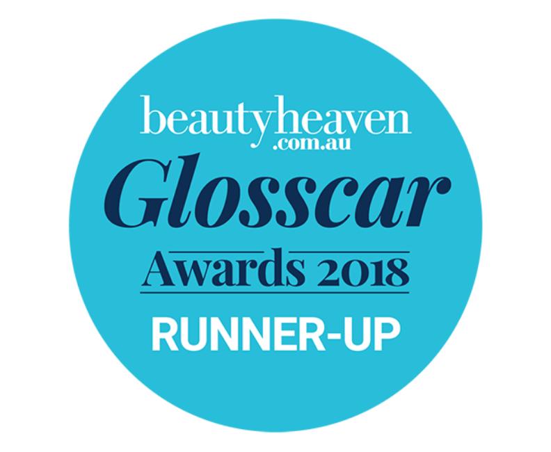beautyheaven.co.au Glosscar awards 2018 runner-up roundel