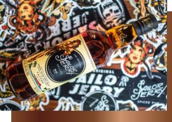 bottle of sailor jerry original spiced caribbean rum
