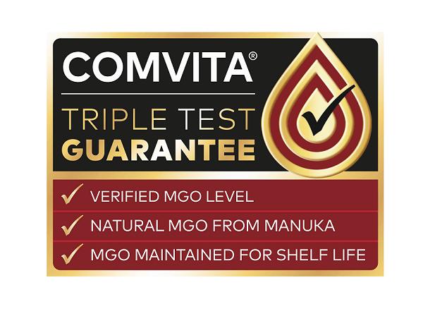 Comvita Triple Test Guarantee. Verified MGO Level, Natural MGO from Manuka, MGO Maintained for Shelf Life